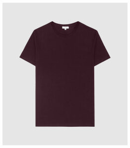 Reiss Bless - Crew Neck T-shirt in Bordeaux, Mens, Size XXL