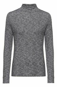 Slim-fit long-sleeved top in super-stretch fabric
