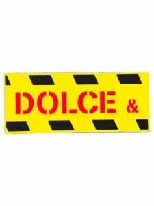 Dolce & Gabbana diagonal striped logo patch - Yellow