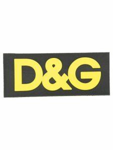 Dolce & Gabbana contrasting logo patch - Black