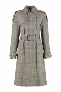 MICHAEL Michael Kors Checked Wool Trench Coat