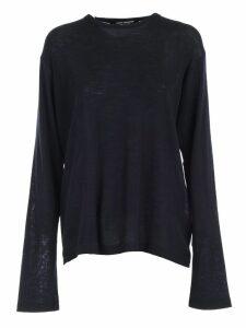Junya Watanabe Comme Des Garçons Sweater L/s Crew Neck Rayon Wool