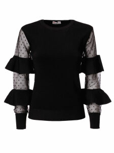 RED Valentino Ruffled Sheer Sweater
