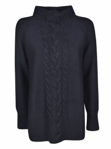 S Max Mara V-neck Embroidered Front Jumper