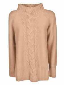 S Max Mara Round Neck Embroidered Front Jumper