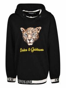 Dolce & Gabbana Tiger Logo Print Hoodie