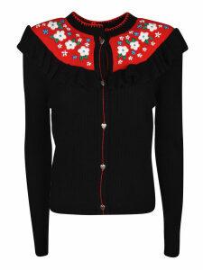 Miu Miu Buttoned Floral Detail Cardigan