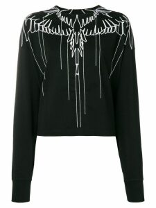 Marcelo Burlon County Of Milan wings embroidered sweatshirt - Black