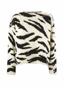 Philosophy di Lorenzo Serafini White And Black Wool Sweater