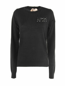 N.21 Black Virgin Wool Sweater