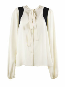N.21 Shirt In White Silk Blend