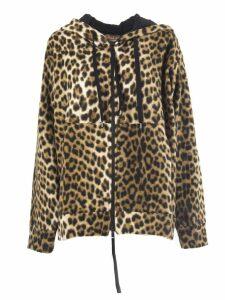 N.21 Leopard-print Faux-fur Hoodie