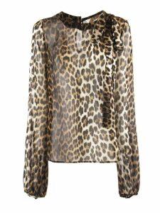 N.21 Leopard Print Silk Blouse