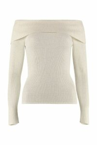 Parosh Off-shoulders Pullover