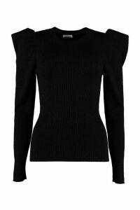 Parosh Ribbed Lurex Knit Top