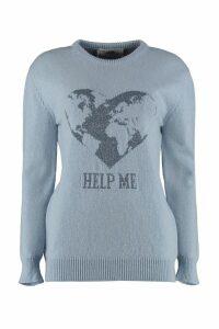 Alberta Ferretti Cashmere Crew-neck Pullover