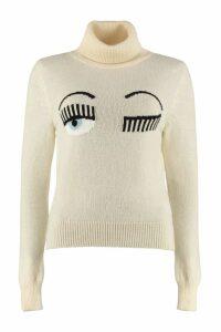 Chiara Ferragni Flirting Intarsia Turtleneck Sweater