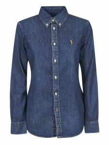 Embroidered Logo Denim Shirt