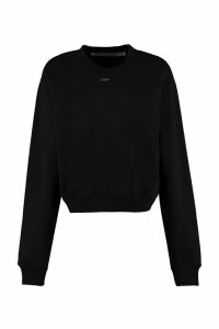 Off-White Cotton Crew-neck Sweatshirt