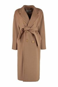 Max Mara Madame Double-breasted Wool And Cashmere Coat