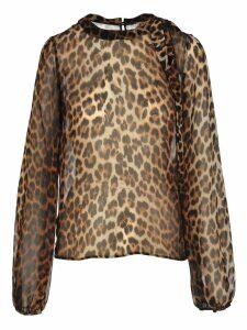 N21 Leopard Silk Blouse