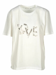 Saint Laurent Faded Love Printed T-shirt