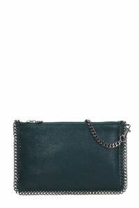 Stella McCartney Falabella Clutch In Green Polyamide
