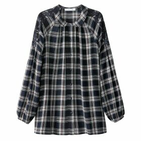 Checked Shirt with Macramé Details