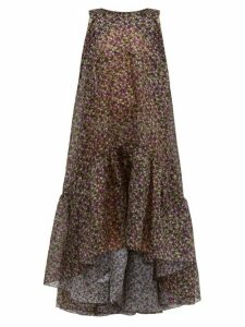 Romance Was Born - Dream Factory Semi-sheer Floral Organza Dress - Womens - Black Multi