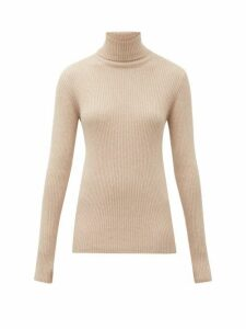 Hillier Bartley - Roll Neck Ribbed Knit Cashmere Sweater - Womens - Camel