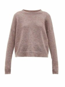 Isabel Marant Étoile - Cliftony Mohair Blend Sweater - Womens - Light Pink
