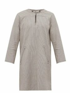 A.p.c. - Buttoned Gingham Shift Dress - Womens - Black White