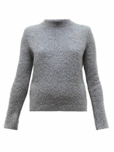 Gabriela Hearst - Phillipe Cashmere Blend Bouclé Round Neck Sweater - Womens - Dark Grey