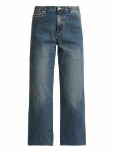 A.p.c. - Sailor High-rise Cropped Jeans - Womens - Light Denim