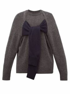 Christopher Kane - Octopus Crew Neck Wool Sweater - Womens - Navy Multi