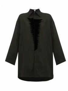 Loewe - Flocked-patch Crinkle Blouse - Womens - Black