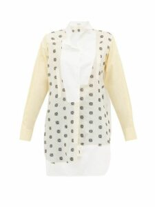 Loewe - Anagram Broderie-anglaise Cotton Shirt - Womens - White Multi