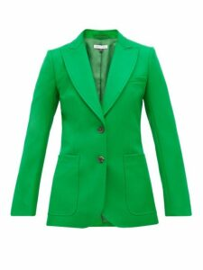 Bella Freud - Saint James Single Breasted Wool Twill Jacket - Womens - Green