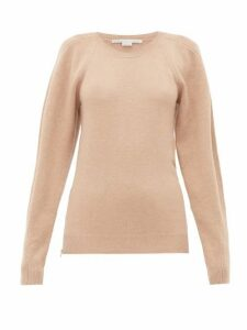 Stella Mccartney - Side-zip Wool Sweater - Womens - Beige