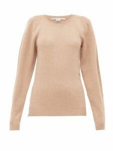 Stella Mccartney - Side-zip Wool Sweater - Womens - Beige