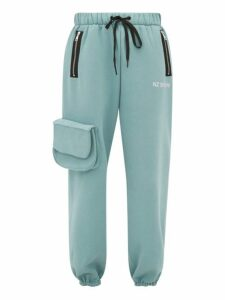 Natasha Zinko - Cargo Pocket Cotton Blend Jersey Track Pants - Womens - Light Green