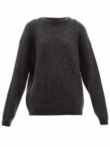 Acne Studios - Dramatic Boat-neck Sweater - Womens - Dark Grey