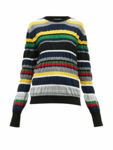 Jw Anderson - Ruched-stripe Wool-blend Sweater - Womens - Multi