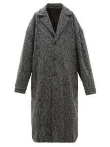 Edward Crutchley - Patterned Mohair Coat - Womens - Grey
