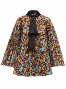 Romance Was Born - Pop Life Floral Pleated Organza Blouse - Womens - Multi