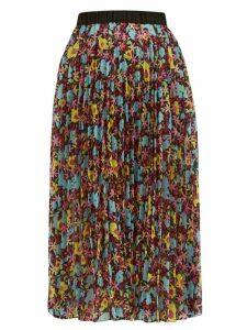 Romance Was Born - Pop Life Semi-sheer Pleated Organza Midi Skirt - Womens - Multi