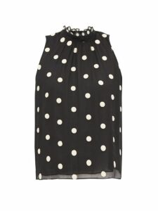 Rebecca Taylor - Sleveless Polka-dot Embroidered-silk Blouse - Womens - Black Multi