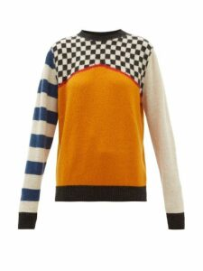 The Elder Statesman - Checked Cashmere Sweater - Womens - Ivory Multi