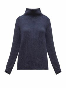 Gabriela Hearst - Velimir High-neck Cashmere Sweater - Womens - Navy