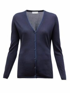 Gabriela Hearst - Nerry V-neck Cashmere-blend Cardigan - Womens - Navy Multi